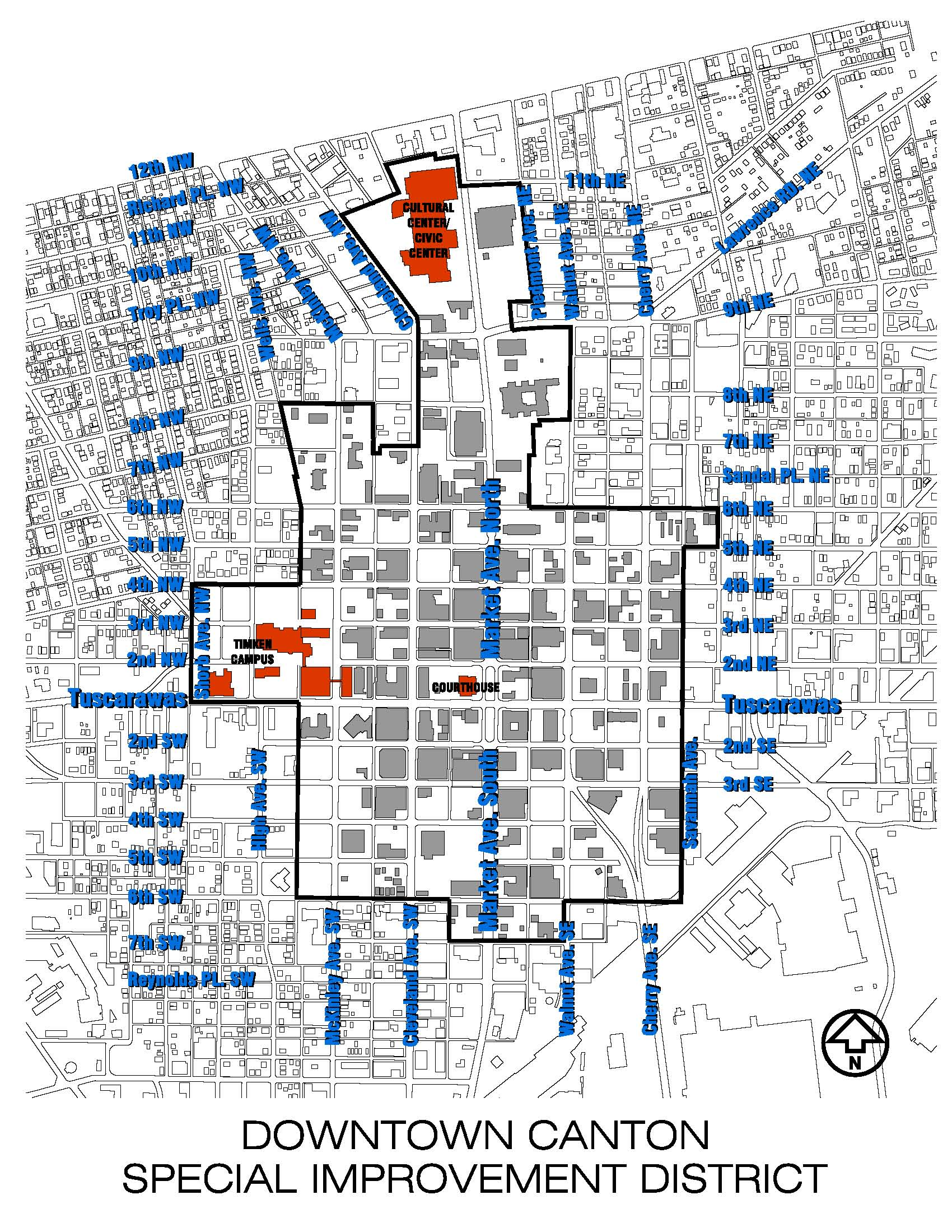 Downtown Canton Special Improvement District Map Downtown Canton